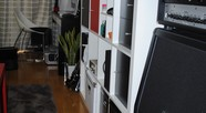 PCデスク & 書籍棚 & ギターアンプ