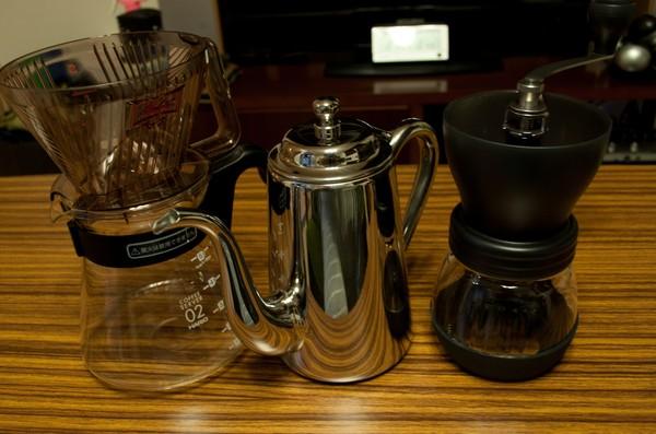 自宅でコーヒーセット