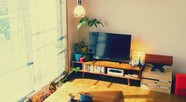 日当たりの良い部屋でお茶