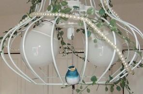 鳥かご風照明☆幸せの青い鳥付き♪