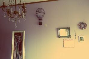 壁の飾り。