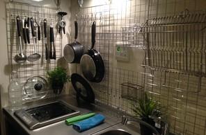 キッチン―見せる収納―