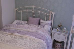 春夏仕様のベッド