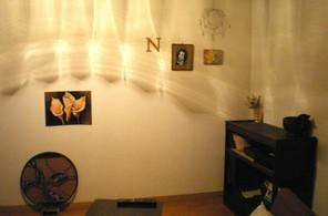 壁の影とお気に入りon wall
