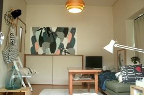 水色×緑の部屋