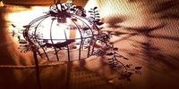 手作りランプ点灯