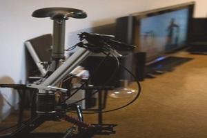 部屋に自転車
